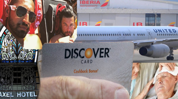 CHICAGO - DISCOVER Card hacked by Bank of America ID Thief Mario Elizondo. The ID thief stole the identity and personal information of a Bank of America customer [one of many] and then used DISCOVER to pay for Mario Elizondo's trip to Barcelona Spain and Mykonos Greece for tickets on Spanish air carrier Iberia. The couple paid for the entire vacation on funds stolen from Bank of America customer accounts. Among the places the notorious couple stayed was at The Axle Resort and Spa in Barcelona. The travel was booked through Orbitz using numerous credit card and debit cards Elizondo fraudulently acquired at one of the several Bank of America branches Elizondo worked at creating nightmares for scores of senior citizens among other Bank of America customers. 2016 All rights reserved IDTheftReport2020.com