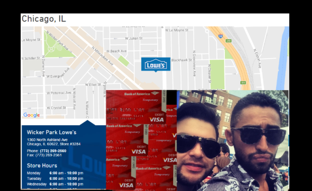 FRAUD ALERT - LOWES - Bogus Bank of America Temporary Debit cards being used at LOWES by Mario Elizondo - Jorge Cadenas. 2016 All rights reserved IDTheftReport2020.com