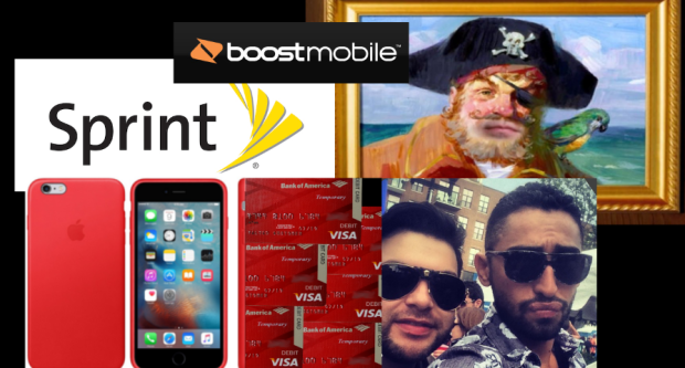 FRAUD ALERT - SPRINT - BOGUS Bank of America Temporary Debit cards being used at SPRINT by Mario Elizondo - Jorge Cadenas. Wireless services AND Apple phones were purchased using BOGUS Bank of America Temporary Debit cards. Phone numbers included 210-772-6611 for Mario Elizondo and 773-444-7522 AND 773-606-2505 for Jorge Cadenas. After notification of the extensive fraud the pair were conducting using SPRINT service the lines were terminated. Even the SPRINT service and Apple phones were fraudulently obtained using BOGUS Bank of America Temporary debit cards. Jorge Cadenas then connected the 773-606-2505 line to BOOST. 2016 All rights reserved IDTheftReport2020.com