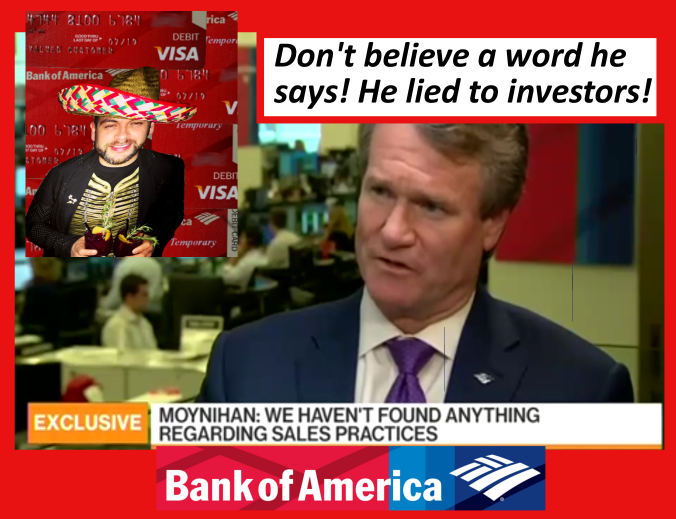 Bank of America Chairman and CEO Brian Moynihan is AGAIN LYING to investors and IDTheftReport2020 has the documents to prove it! 2016 All rights reserved. IDTheftReport2020.com