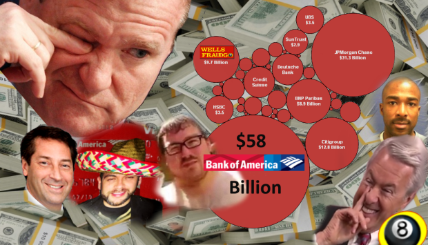 "Bank of America CRIMINAL ENTERPRISE - If John Stumpf's WELLS FARGO is considered a ""criminal enterprise"" by US Congressman just what will they use to describe Bank of America CHIEF FINANCIAL TERRORIST? Fines levied by US regulatory agencies are nearly $50 Billion more than WELLS FARGO's systemically corrupt financial terror enterprise. 2016 All rights reserved. IDTheftReport2020.com"