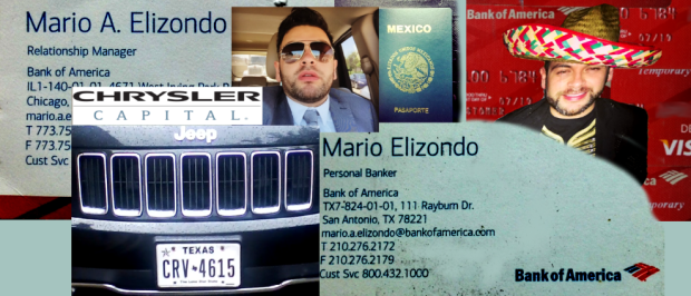 CHICAGO - SAN ANTONIO Bank of America employee Mario Elizondo. 2016 All rights reserved. IDTheftReport2020.com