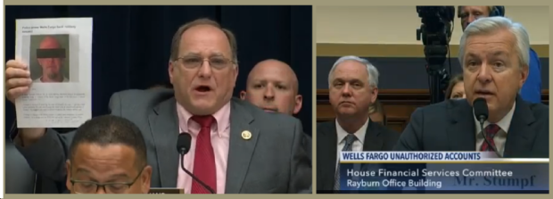 Washington DC Congressman Michael Capuano says Chief RICO Officer John Stumpf is no than John Holmes who robbed a Wells Fargo bank and was caught; Holes went to federal prison even though he - like John Stumpf claimed numerous times - told the court he was sorry.- Racketeer Corruption Expert - 8 Is Great? - 8 Years In Federal Prison Is Even Better! Congressman Michael Capuano grillls Wells Fargo CFO Chief Fraudster Officer John Stumpf. 2016 All rights reserved IDTheftReport2020.com