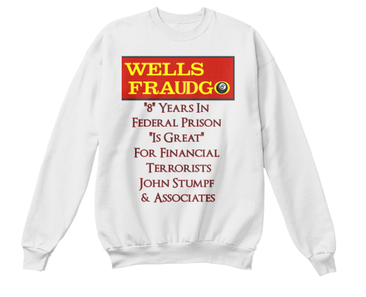 WELLS FRAUDGO BANK CUSTOMERS MUGGED!    Inspired by WELLS FARGO victim Lacy Harber from Texas the WELLS FRAUDGO clothing now available on Teesping.  2016 All rights reserved. IDTheftReport2020.com