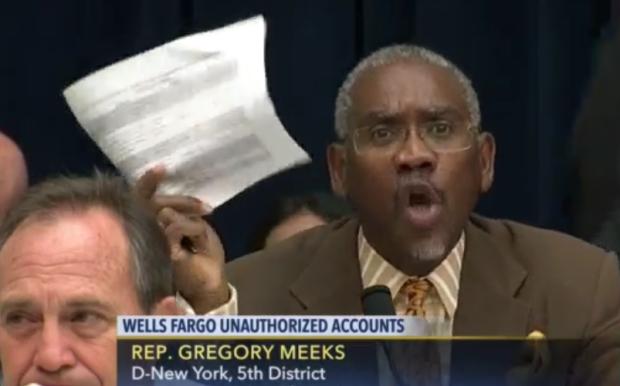 WASHINGTON DC    Congressman Gregory Meeks lamblasted financial terrorist John Stumpf. 2016 All rights reserved. IDTheftReport2020.com