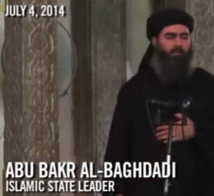 ISIS World Terror Leader Abu Bakr Al-Baghdadi - World Leader of ISIS & ISIL - an entity secretly established by John McCain - Hillary Clinton - President Obama. 2016 All rights reserved IDTheftReport2020.com,